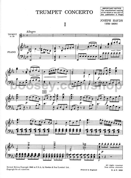 Concerto For Trumpet Oboe In E Flat Mvt I Allegro Youtube - Www
