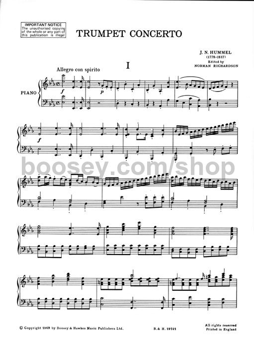 Pdf hummel trumpet concerto