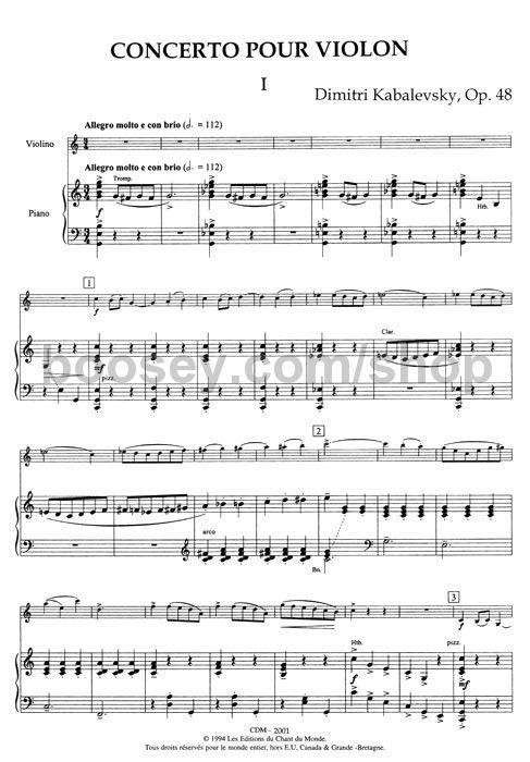 Dmitry Kabalevsky Violin Concerto Op48