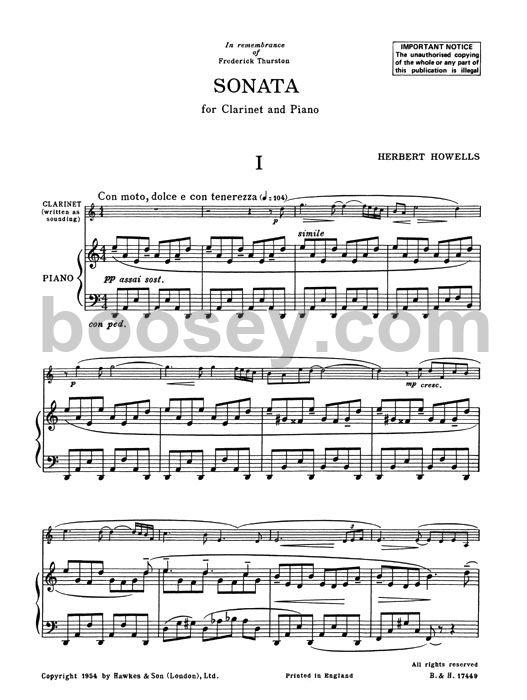 Herbert Howells - Clarinet Sonata