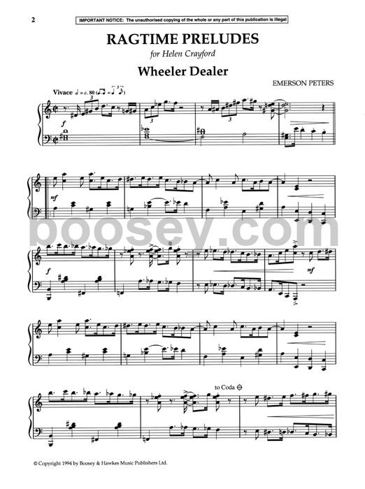 Emerson Peters Ragtime Preludes. Se Publications. Worksheet. West Side Story Worksheet At Clickcart.co