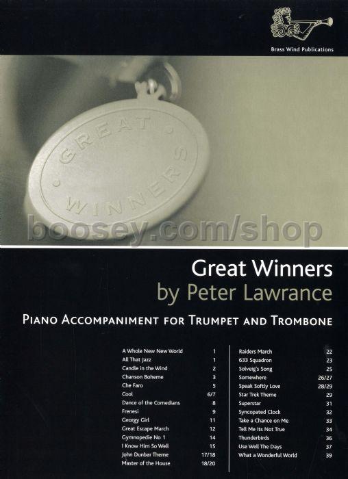 Lawrance, Peter - Great Winners for Trumpet, Trombone