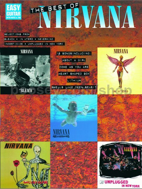 Nirvana Best Of Nirvana For Easy Guitar Guitar Tablature