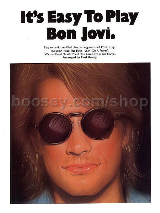 Bon Jovi Its Easy To Play Bon Jovi Easy Piano With Guitar Chords