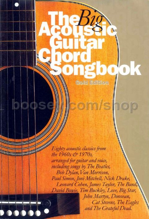 Various Big Acoustic Guitar Chord Songbook Gold Edition