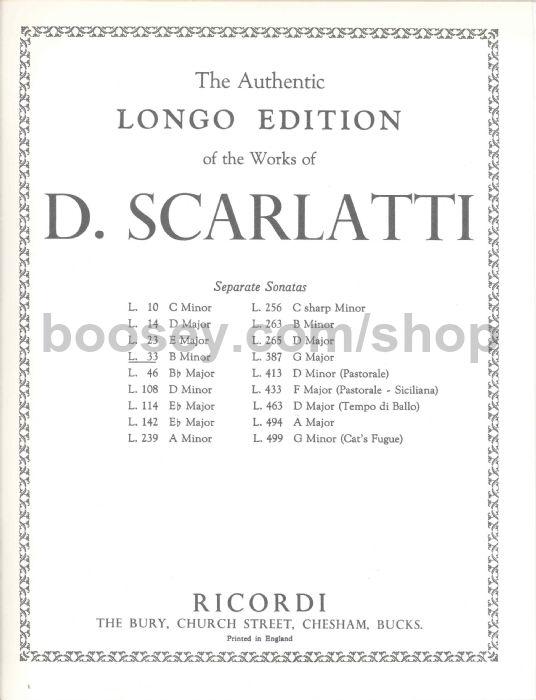 SCARLATTI SONATA K87 EBOOK