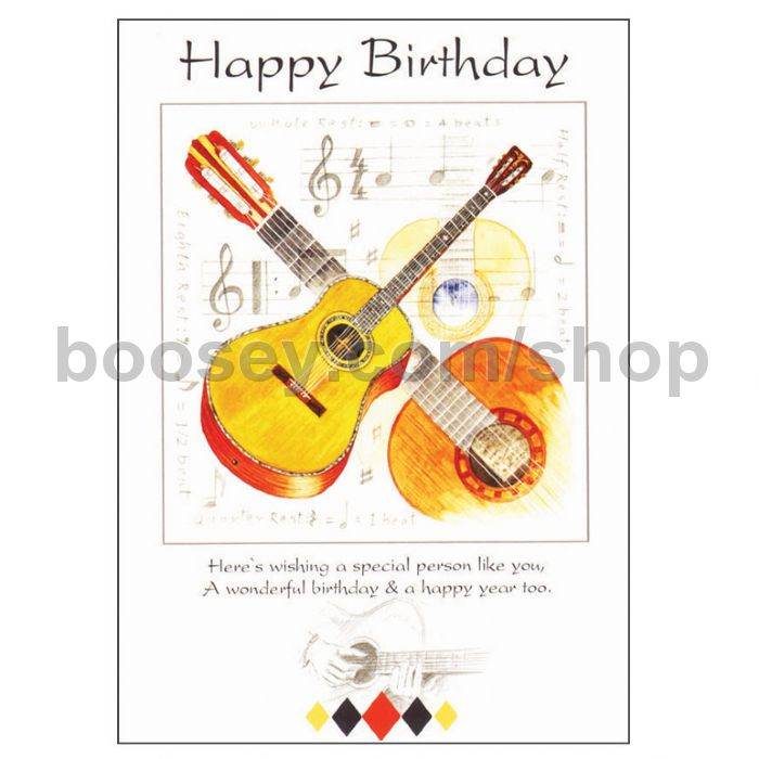 Birthday card classical guitar design bookmarktalkfo Choice Image