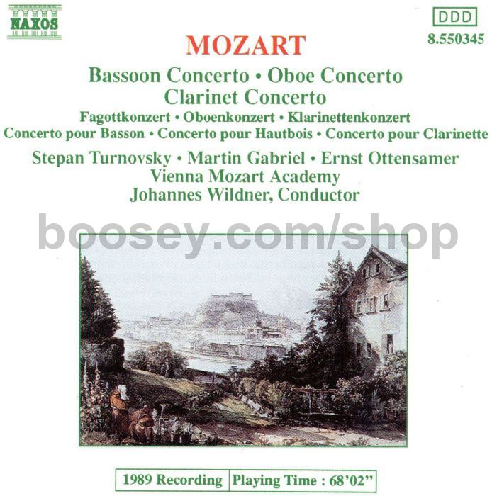 Wolfgang Amadeus Mozart - Bassoon Concerto/Oboe Concerto/Clarinet ...