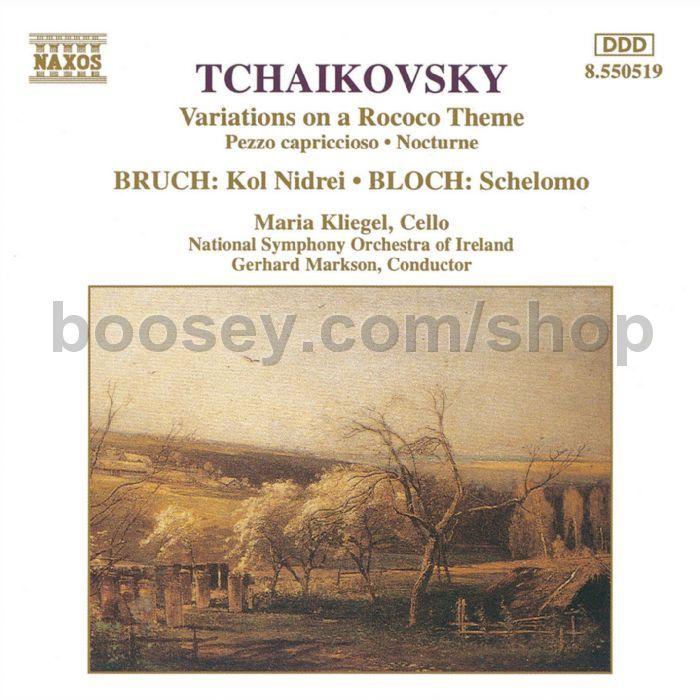 All Music Chords kol nidrei cello sheet music : Tchaikovsky, Peter/Bruch, Max/Bloch, Ernest - Variations on a ...