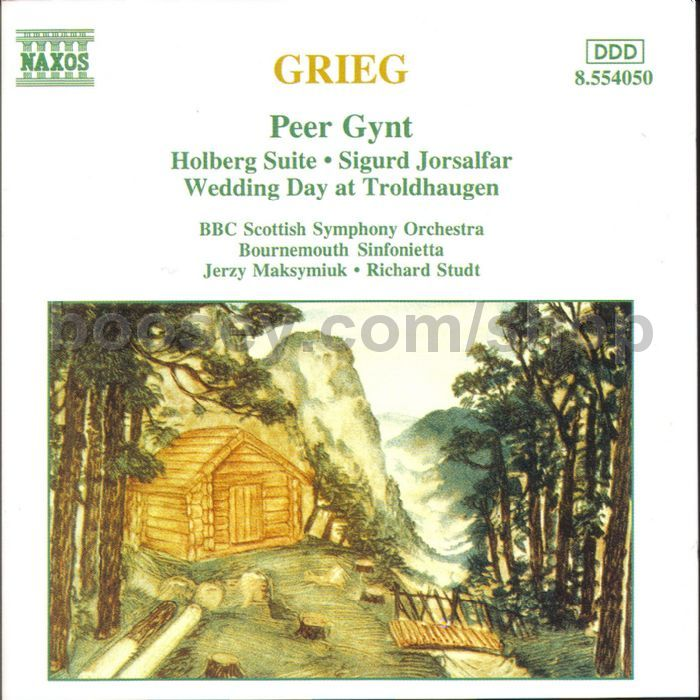 All Music Chords grieg wedding day at troldhaugen sheet music : Edvard Grieg - Peer Gynt and other works (Naxos Audio CD)