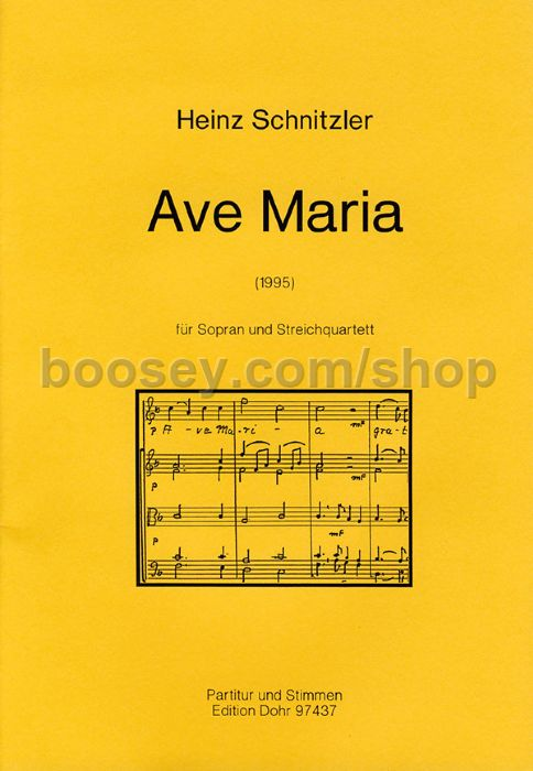 Schnitzler, Heinz - Ave Maria - Soprano & String Quartet
