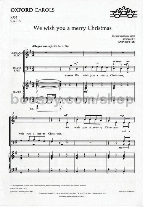 John Rutter - We Wish You A Merry Christmas SATB X332