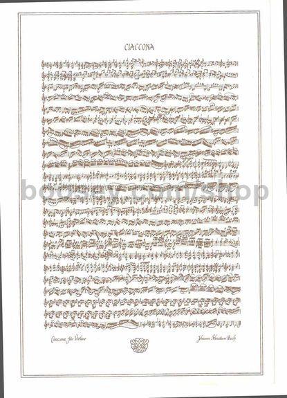 Bach, Johann Sebastian - Chaconne Violin Solo Poster