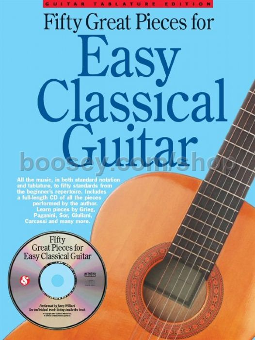 Simple Book Cover Guitar : Various great pieces for easy classical guitar book