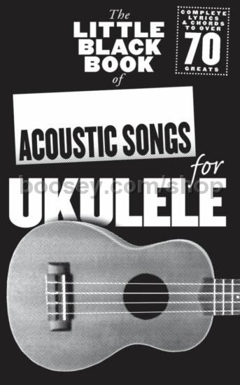 Various The Little Black Book Of Acoustic Songs For Ukulele