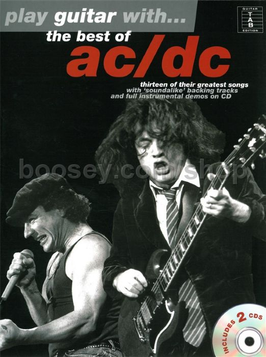 ac dc play guitar with the best of ac dc book online audio. Black Bedroom Furniture Sets. Home Design Ideas