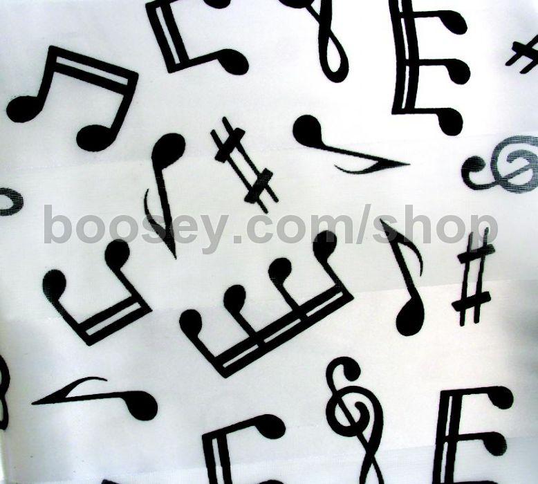 Ladies Scarf Musical Symbols Design