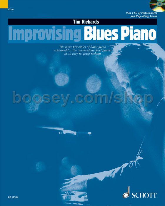 Richards, Tim - Improvising Blues Piano (Book & CD) Schott