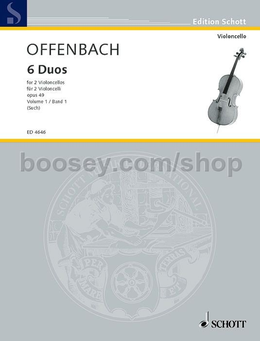 Jacques offenbach 6 duos for cello op 49 vol 1 for Hs offenbach