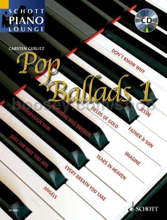 Gerlitz Carsten Pop Ballads Book Amp Schott Piano Lounge Series