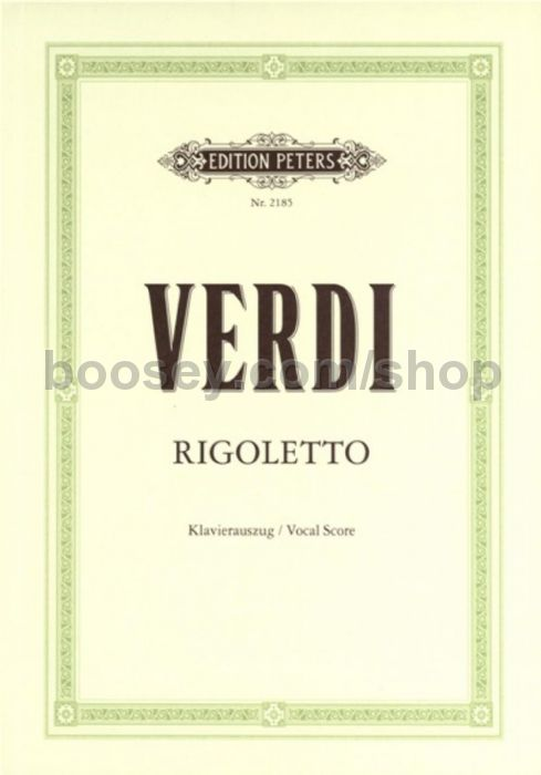 a review of rigoletto an opera by giuseppe verdi Giuseppe verdi rigoletto (vocal score)- schirmer edition opera paperback verdi giuseppe 50 out of 5 stars 2  i bought it based on that review and it is not at all as it described  my family is going to italy in the fall and on a whim we decided to go to a real italian opera rigoletto was listed on the internet at the opera house.