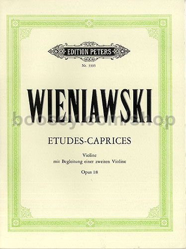 half off sold worldwide best authentic Henryk Wieniawski - Etudes Caprices Op. 18 For 2 Violins: Vl