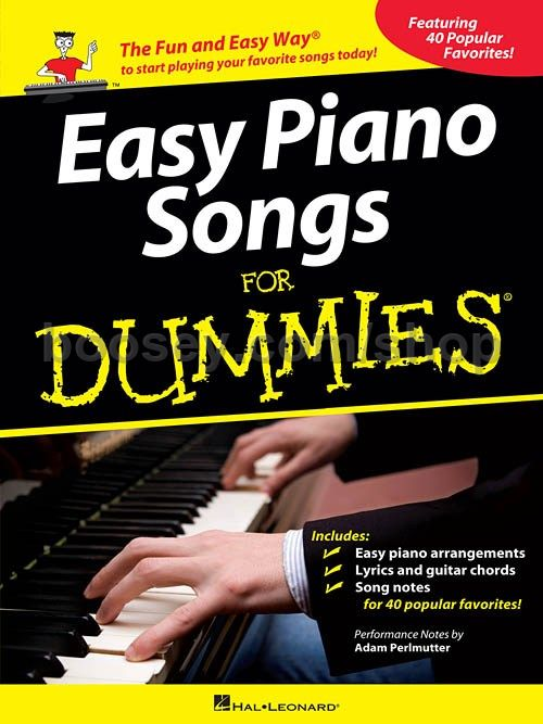 Perlmutter Adam Easy Piano Songs For Dummies