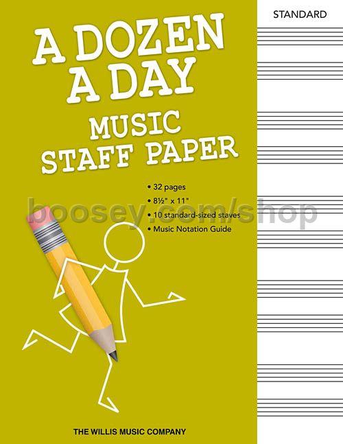 Burnam Edna Mae A Dozen A Day Music Staff Paper