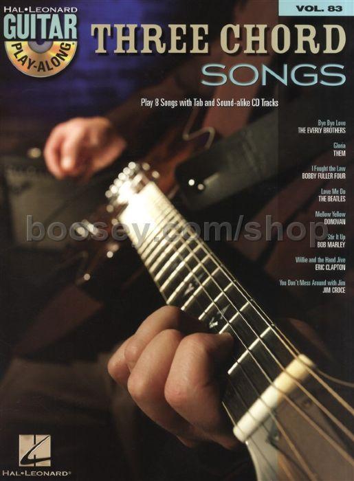 Various - Guitar Play-Along Series vol.83: Three Chord Songs (Bk & CD)