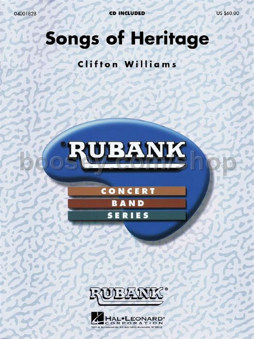 Williams, Clifton - Songs of Heritage for concert band (score & parts)