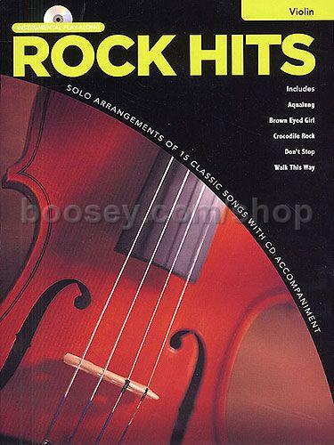 Rock Hits Instrumental Playalong Violin (Book & CD)