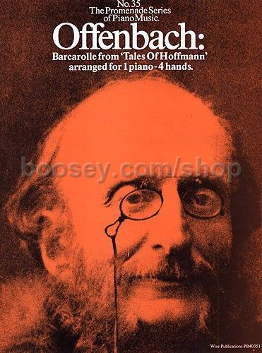 Jacques offenbach barcarolle duet promenade 35 for Hs offenbach