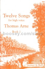 Arne 12 Songs for High Voice, Book 1
