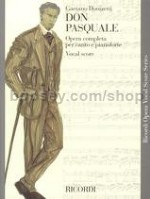 Don Pasquale English/Italian Vocal Score (Softcover)