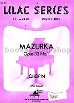 Mazurka Op. 33 No.1 (Lilac series vol.104)