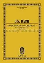 Brandenburg Concerto No3 BWV1048 G major (Eulenburg Miniature Scores)