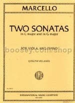 2 Sonatas (in G major & C major) for viola & piano