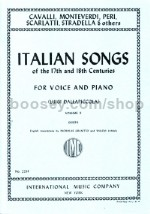 Italian Songs of the 17th and 18th Centuries, Vol. 2 High Voice