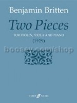 Two Pieces Violin Viola & Piano (Score & Parts)