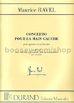 Concerto pour la main gauche - piano solo & reduction