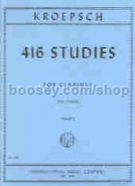 416 Studies vol.1 Solo Clarinet