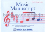 Music Manuscript Book 6 (24 Page 4 Stave)Jumbo