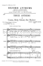 Come Holy Ghost The Maker SATB & Organ