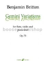 Gemini Variations for Violin, Flute & Piano Score & Parts