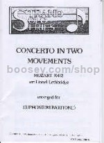 Concerto in Two Movements, K. 412, arr. for Euphonium/Baritone & Piano (bass/treble clef)