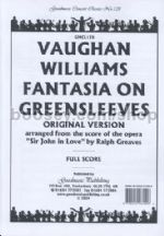 Fantasia On Greensleeves (score)