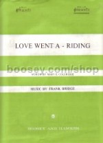 Love went a-riding for high voice (in Gb) with simplified accompaniment