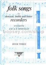 Kirklees Recorder Trios Book 3 Folk Songs