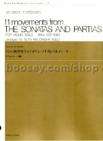 11 Movements from the Sonatas and  Partitas for violin, arranged for recorder