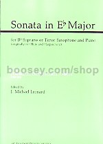 Sonata in Eb, BWV 1031 for Bb saxophone & piano